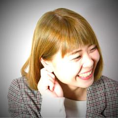 アッシュ 渋谷系 ボブ ハイライト ヘアスタイルや髪型の写真・画像