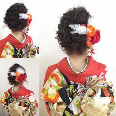 大人かわいい 簡単ヘアアレンジ 成人式 ミディアム ヘアスタイルや髪型の写真・画像