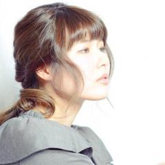 アッシュ 外国人風 フェミニン ヘアアレンジ ヘアスタイルや髪型の写真・画像