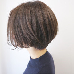 ボブ ショート ナチュラル 色気 ヘアスタイルや髪型の写真・画像