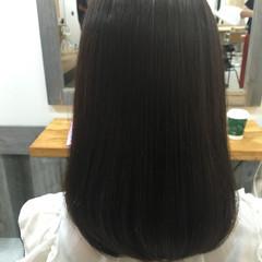コンサバ 黒髪 アッシュ トリートメント ヘアスタイルや髪型の写真・画像