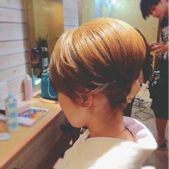 アップスタイル 和服 ヘアアレンジ ボブ ヘアスタイルや髪型の写真・画像