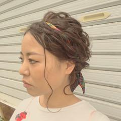 ヘアアクセ 結婚式 大人かわいい 編み込み ヘアスタイルや髪型の写真・画像