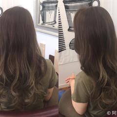 セミロング グラデーションカラー 外国人風 エレガント ヘアスタイルや髪型の写真・画像