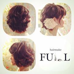 ボブ パーティ 巻き髪 ヘアアレンジ ヘアスタイルや髪型の写真・画像