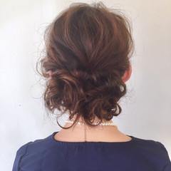 ナチュラル 学校 ヘアアレンジ セミロング ヘアスタイルや髪型の写真・画像
