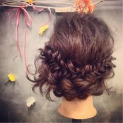コンサバ パーティ アップスタイル ヘアアレンジ ヘアスタイルや髪型の写真・画像