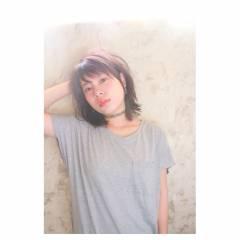 ミディアム ストリート ウェットヘア ヘアスタイルや髪型の写真・画像