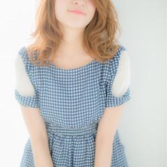 ミディアム ピュア ガーリー ゆるふわ ヘアスタイルや髪型の写真・画像
