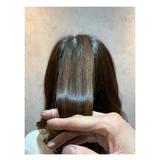 ナチュラル ミディアム 艶髪 髪質改善トリートメント ヘアスタイルや髪型の写真・画像