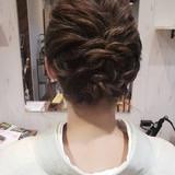 結婚式 成人式 フェミニン 簡単ヘアアレンジ ヘアスタイルや髪型の写真・画像