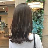 暗髪 ナチュラル ショコラブラウン 透明感カラー ヘアスタイルや髪型の写真・画像
