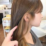 ナチュラル ロング インナーカラー ローライト ヘアスタイルや髪型の写真・画像