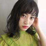 レイヤーカット ミディアム 大人かわいい 黒髪 ヘアスタイルや髪型の写真・画像 | 奥村北斗/表参道AnnaLanna / AnnaLanna omotesando