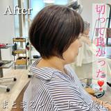切りっぱなしボブ ショートヘア ナチュラル ショートボブ ヘアスタイルや髪型の写真・画像 | SOSHI / Cafune by Garland