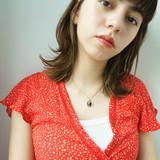 簡単ヘアアレンジ ミディアム モード 透明感 ヘアスタイルや髪型の写真・画像