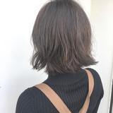 デート アンニュイほつれヘア ボブ ナチュラル ヘアスタイルや髪型の写真・画像