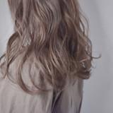 ミルクティー ロング ミルクティーベージュ グレージュ ヘアスタイルや髪型の写真・画像