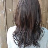 セミロング ナチュラル アッシュ ハイライト ヘアスタイルや髪型の写真・画像 | 北野陽平 / holm hair