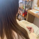 グレージュ エレガント グラデーションカラー 大人かわいい ヘアスタイルや髪型の写真・画像
