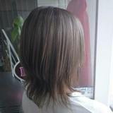 ウルフカット ミルクティーベージュ ミディアム ナチュラル ヘアスタイルや髪型の写真・画像 | rumiLINKS美容室 / リンクス美容室