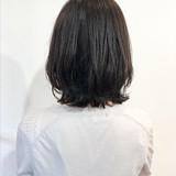 黒髪 パーマ フェミニン 外ハネ ヘアスタイルや髪型の写真・画像   L'atelier Content / L'atelier Content