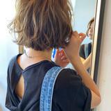 ショートボブ 切りっぱなしボブ ミニボブ ナチュラル ヘアスタイルや髪型の写真・画像