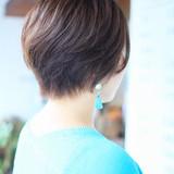 ショートボブ 小顔ショート フェミニン ショート ヘアスタイルや髪型の写真・画像