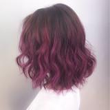 個性的 グラデーションカラー ピンク ボブ ヘアスタイルや髪型の写真・画像 | YUKA /