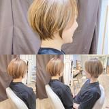 ナチュラル ショート ショートボブ ショートヘア ヘアスタイルや髪型の写真・画像[エリア]