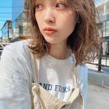 ミディアム ミディアムレイヤー ニュアンスウルフ ウルフレイヤー ヘアスタイルや髪型の写真・画像