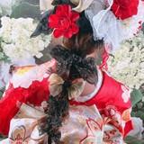 ヘアアレンジ ナチュラル ロング 成人式ヘアスタイルや髪型の写真・画像
