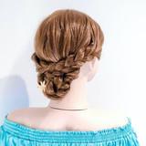 ヘアアレンジ アップスタイル フェミニン くるりんぱ ヘアスタイルや髪型の写真・画像 | 美容師HIRO/Amoute代表 / Amoute/アムティ