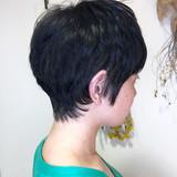ナチュラル ベリーショート ショートボブ ショートヘア ヘアスタイルや髪型の写真・画像