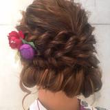 ウェーブ ゆるふわ ロング フェミニン ヘアスタイルや髪型の写真・画像