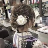 ゆるふわ お祭り 編み込み 夏 ヘアスタイルや髪型の写真・画像 | 畠中秀次郎 / Grand Hair Make NOAH