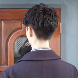 ストリート メンズヘア メンズパーマ ショート ヘアスタイルや髪型の写真・画像 | 刈り上げ・2ブロック専門美容師 ヤマモトカズヒコ / MEN'S GROOMING SALON AOYAMA by kakimoto arms