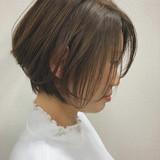 ショートボブ ナチュラル 大人ショート ハンサムショート ヘアスタイルや髪型の写真・画像   佐藤タカヒロ / Gritter