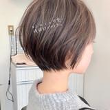 ショートヘア 切りっぱなしボブ ショート ショートボブヘアスタイルや髪型の写真・画像