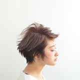 モード フェミニン ショート 大人女子 ヘアスタイルや髪型の写真・画像