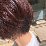 ナチュラル グラデーションカラー レッドカラー ヘアカラー ヘアスタイルや髪型の写真・画像