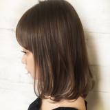 大人かわいい ミディアム 春 ロブ ヘアスタイルや髪型の写真・画像