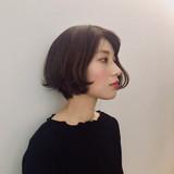 大人女子 色気 ナチュラル ボブ ヘアスタイルや髪型の写真・画像