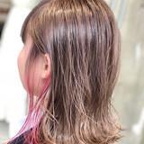 ミディアム グラデーションカラー エレガント 簡単ヘアアレンジ ヘアスタイルや髪型の写真・画像