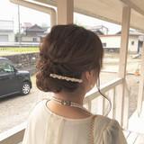 ヘアアレンジ 結婚式 デート 簡単ヘアアレンジ ヘアスタイルや髪型の写真・画像 | MOMOKO / HairworksZEAL