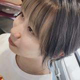 ショートヘア 前髪インナーカラー ショート イヤリングカラー ヘアスタイルや髪型の写真・画像[エリア]