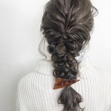 ヘアアレンジ 三つ編み エレガント 上品 ヘアスタイルや髪型の写真・画像[エリア]