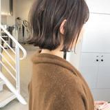 ミニボブ 切りっぱなしボブ ベリーショート ナチュラル ヘアスタイルや髪型の写真・画像
