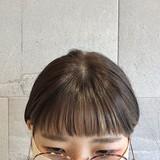 オン眉 ショートヘア ナチュラル ベージュ ヘアスタイルや髪型の写真・画像