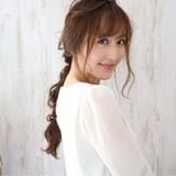 フェミニン ロング 大人かわいい ヘアアレンジヘアスタイルや髪型の写真・画像